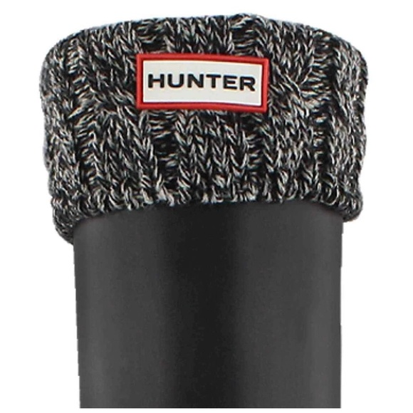 Hunter Black and Grey Boot Socks